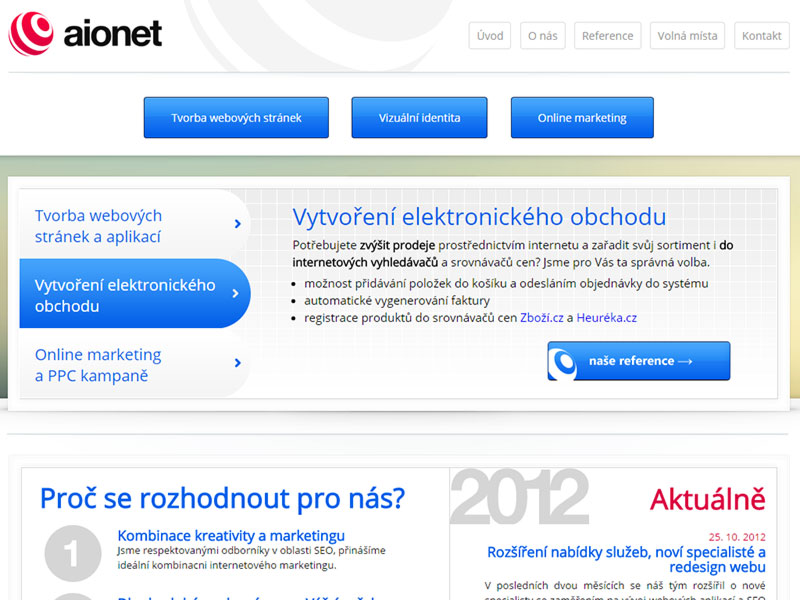 Web aionet.cz screenshot