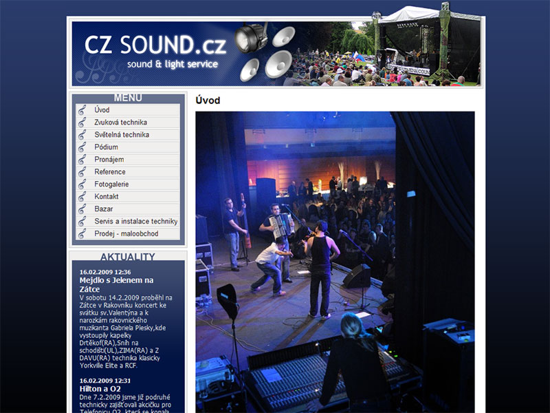 Web CZSound.cz screenshot