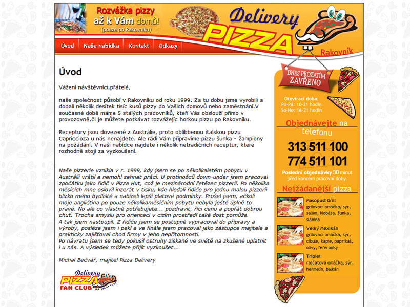Delivery Pizza Rakovník screenshot