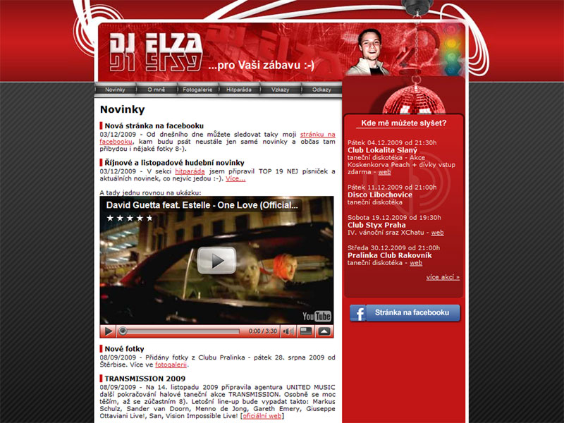 DJ Elza.cz screenshot