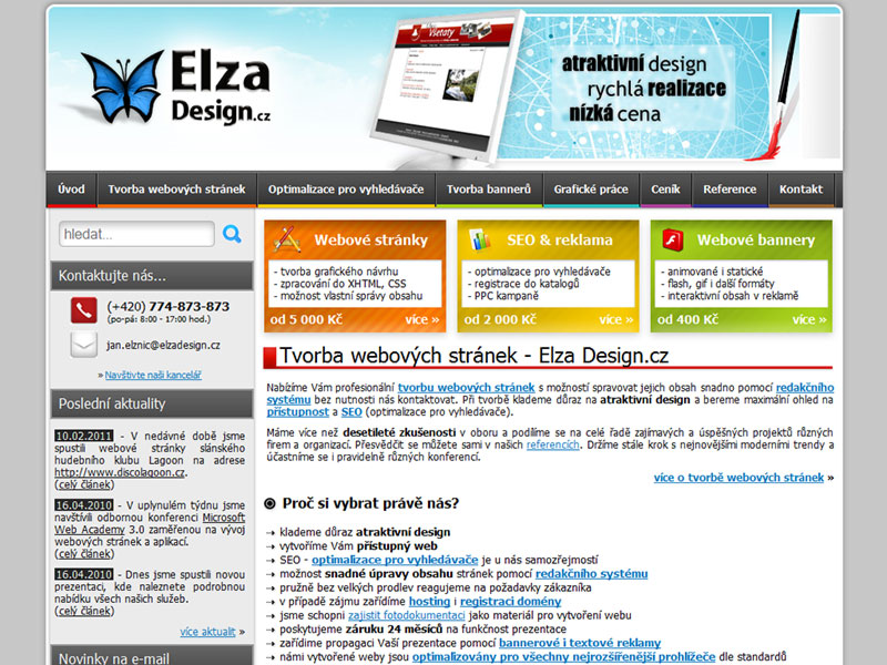 Elza Design.cz screenshot
