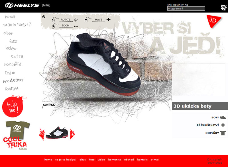 Web Heelys.cz screenshot