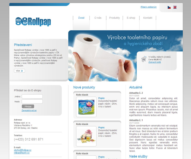 E-shop Rollpap.cz screeenshot